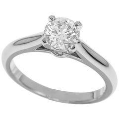Cartier 0.56 Carat Diamond Platinum 1895 Solitaire Ring