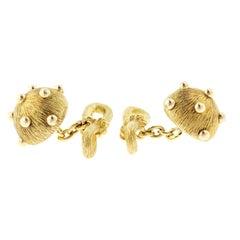 Tiffany & Co. 18 Karat Yellow Gold Jean Schlumberger Dome Dots Cufflinks