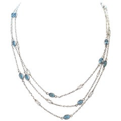 Aquamarine Platinum Chain