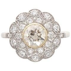 Art Deco Revival Diamond Platinum Engagement Ring