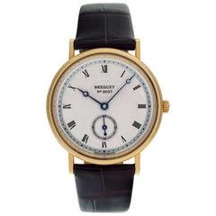 Breguet Classique 3910 18 Karat Silver Guilloche Dial Manual Watch
