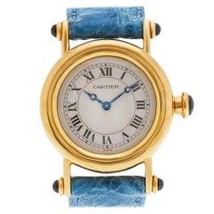 Cartier Diablo 1440 18 Karat Ivory Dial Quartz Watch 'Certified Authentic'