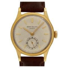 Patek Philippe Calatrava 2451 18 Karat Cream Dial Manual Watch
