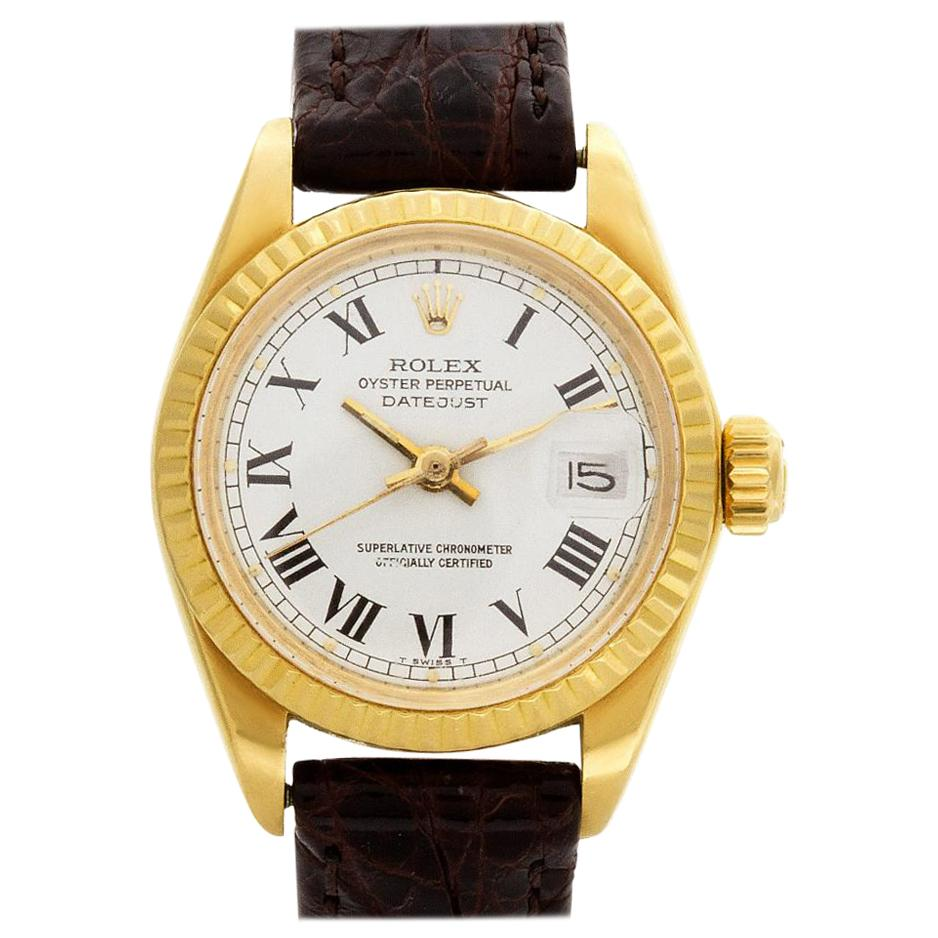 Rolex Datejust 6917 18 Karat White Dial Automatic Watch 'Certified Authentic'