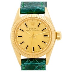 Rolex Oyster Perpetual 6719 18 Karat Gold Dial Auto Watch