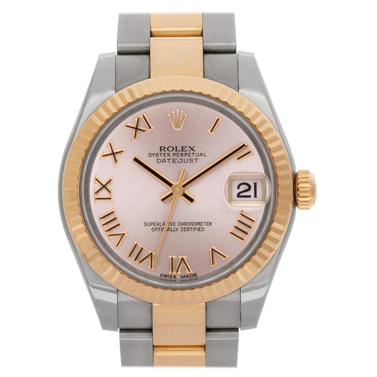 5e986709d17 Rolex Datejust 178271 18k Rose gold & stainless steel Pink dial Automatic  watch For Sale