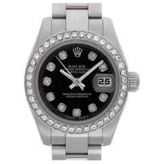 Rolex Datejust 179160 Stainless Steel Black Dial Automatic Watch