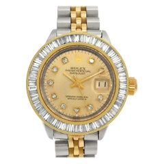 Rolex Datejust 6917 Stainless Steel Gold Dail Automatic Watch