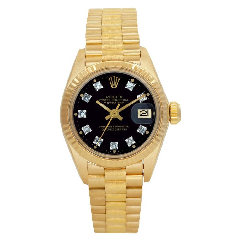 Rolex Datejust 6917 18k Custom Diamond Dial 26mm Auto Watch Certified Authentic