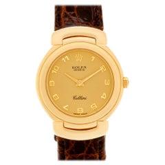 Rolex Cellini 6621 18 Karat Gold Dial Quartz Watch 'Certified Authentic'