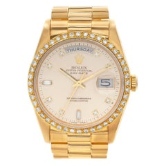 Rolex Day-Date 18238 18 Karat Champagne Dial Automatic Watch Certified Authentic