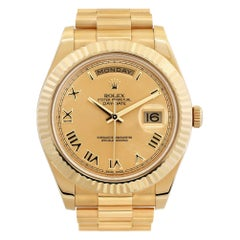 Rolex Day-Date II 218238 18k Gold dial 41mm Automatic watch-Certified Authentic