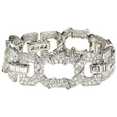 Cartier Art Deco Diamond Platinum Bracelet