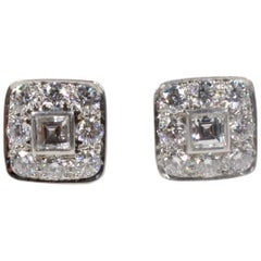 Tiffany & Co. Platinum and Diamond Earrings