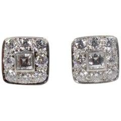 Tiffany & Co. Platinum and Diamond Earrings 2.4 Carats