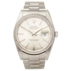 Rolex Datejust 36 Stainless Steel and 18K White Gold 1623 Wristwatch
