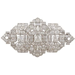 Cartier Art Deco Diamond Brooch