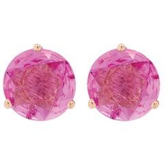 Alessa Pink Sapphire Stud 18 Karat Rose Gold Bloom By Lu Collection