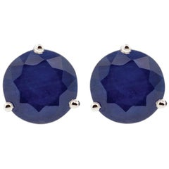 18 Karat Rose Gold and 1.5 Carat Lu Blue Sapphire Stud by Alessa Jewelry
