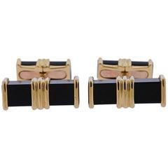 Chaumet Paris Onyx Gold Cufflinks