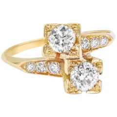 Yellow Gold 1.00 Carat Diamond Fashion Ring