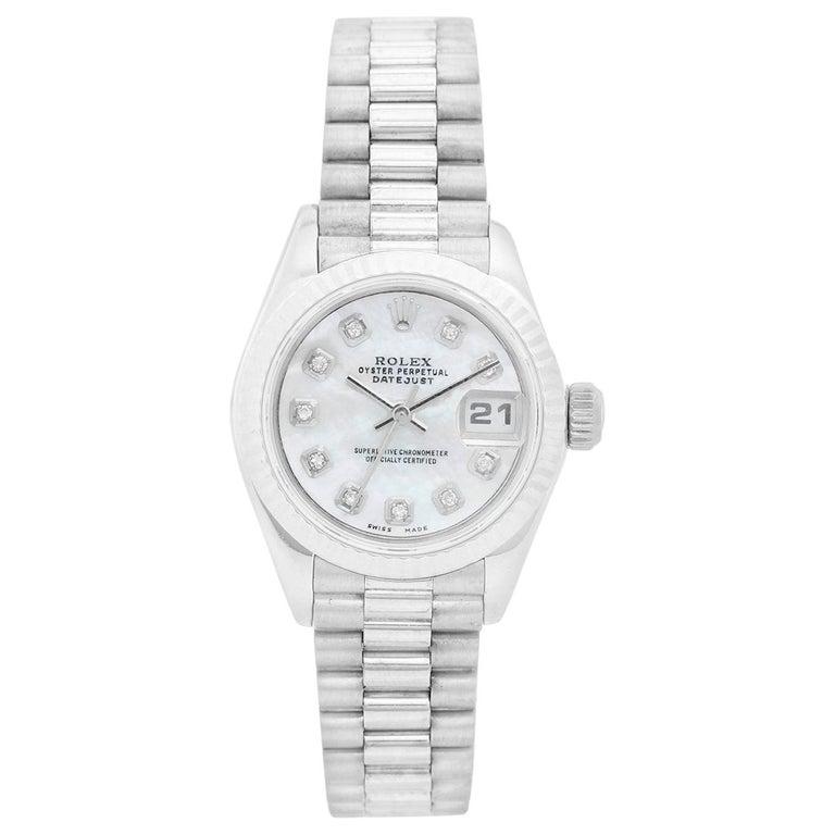 Rolex Ladies Datejust 69139 President Bracelet Watch For Sale