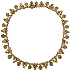 Zolotas Greece 22 Karat Gold Necklace