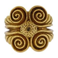 Zolotas Greece 22 Karat Gold Swirl Ring