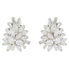 8.25 Carat Diamond Oscar Heyman Mixed Cut Earrings