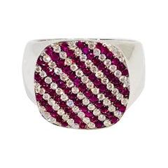 Heraldic Diamond and Ruby Signet Ring, by Martyn Lawrence Bullard