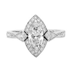 Diamant-Verlobungsring Marquise