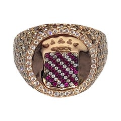 Vendome Diamond and Ruby Signet Ring, by Martyn Lawrence Bullard