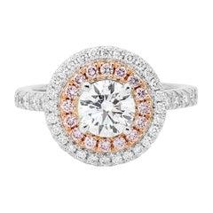 Australian Argyle 1.02 Carat GIA Certified White and Argyle Pink Diamond Ring