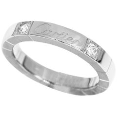 Cartier Diamond 18 Karat White Gold Lanières Ring US 4.5