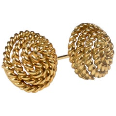 Tiffany & Co. 18 Karat Gold Spiral Stud Earrings