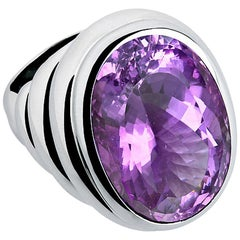 Middles Ages 26.31 Carat Amethyst Cocktail Ring