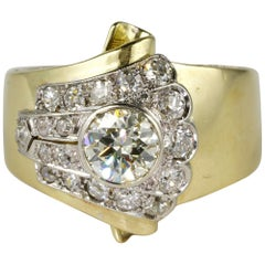 1.50 Carat Diamond Buckle Ring