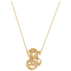 Stephen Webster Fish Tales E Is for Electric Eel 18K Gold and Diamond Necklace