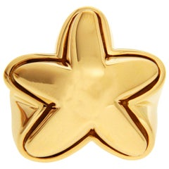 Valentin Magro High Polish Gold Starfish Ring
