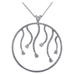 3.04 Carat Diamond Pendant Necklace