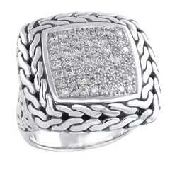 John Hardy Classic Chain Diamond Ring