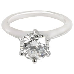 Tiffany & Co. Solitaire Diamond Engagement Ring in Platinum I VVS2 1.72 Carat