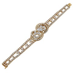 M.Gerard Pear-Shaped and Oval Diamond Bracelet