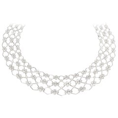 Kwiat Jasmine Diamond Necklace in 18 Karat White Gold 17.44 Carat