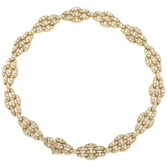 18 Karat Yellow Gold and Diamond Necklace, by Black Starr & Frost