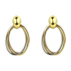 Cartier Trinity De Cartier Tri-Color Gold Hoop Earrings