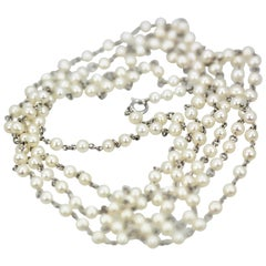 Platinum Seed Pearl Necklace