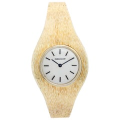 Ladies Vintage Jaeger-LeCoultre 14 Karat Yellow Gold Ladies Retro Style Watch