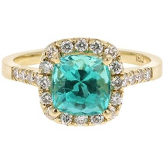 2.81 Carat Apatite Diamond 18K White Gold Engagement Ring