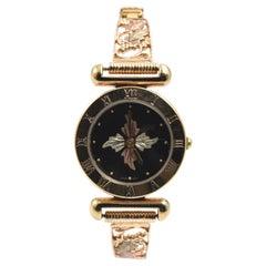Black Hills Gold 10 Karat Yellow Gold Leaf Watch